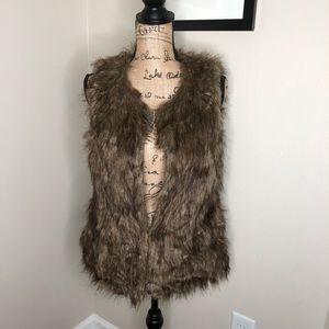 Say What? Faux Fur Brown Vest NEW!